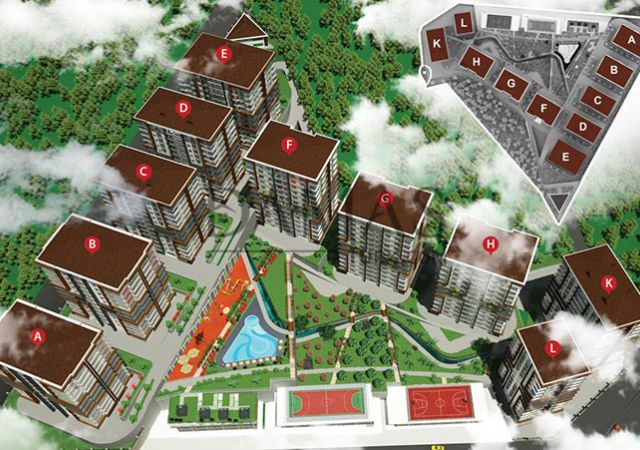 منازل للبيع في طرابزون - مجمع داماس 406 في طرابزون - صورة المخطط 01