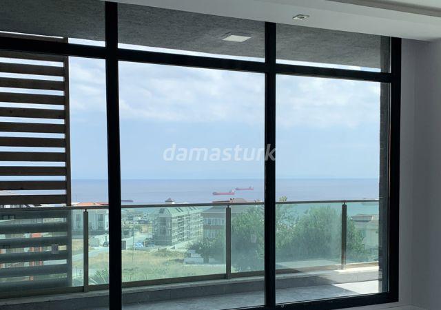 مجمع جاهز للسكن بنظام الشقق الذكية بإطلالة بحرية رائعة في اسطنبول الأوروبية منطقة بيليك دوزو || شركة داماس تورك العقارية 06