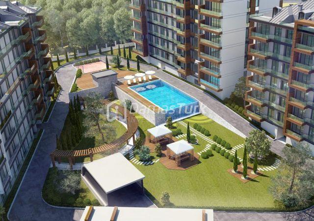 مجمع شقق جاهز للسكن بإطلالة بحرية بالتقسيط المريح  في اسطنبول الأوروبية منطقة بيوك شكمجة DS288     شركة داماس تورك العقارية 04
