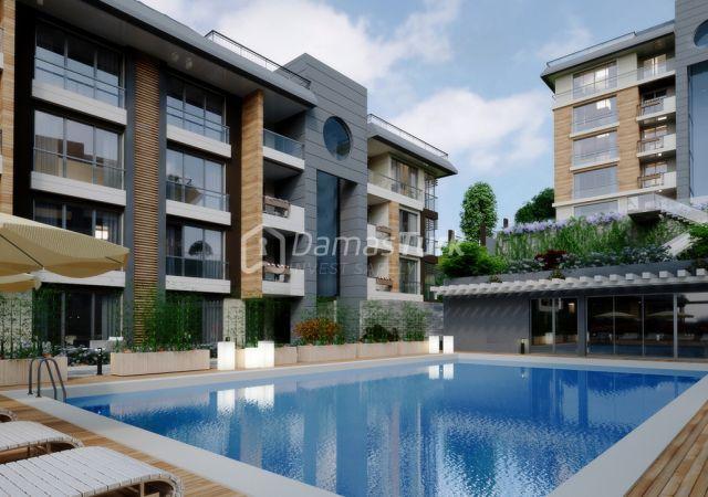 مجمع شقق استثماري  جاهز للسكن مع إطلالة بحرية  في اسطنبول الأوروبية منطقة بيوك شكمجة . DS280    داماس تورك العقارية 04