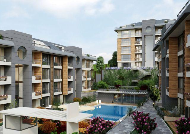 مجمع شقق استثماري  جاهز للسكن مع إطلالة بحرية  في اسطنبول الأوروبية منطقة بيوك شكمجة . DS280    داماس تورك العقارية 01