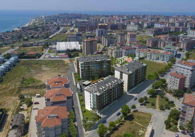 مجمع شقق جاهز للسكن بإطلالة بحرية بالتقسيط المريح  في اسطنبول الأوروبية منطقة بيوك شكمجة DS288     شركة داماس تورك العقارية 01