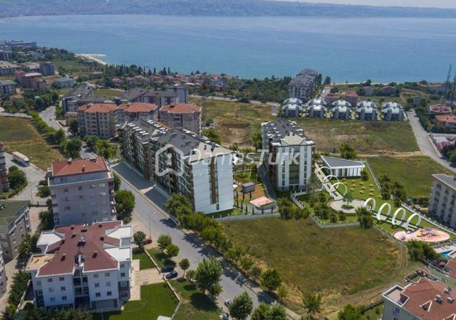 مجمع شقق جاهز للسكن بإطلالة بحرية بالتقسيط المريح  في اسطنبول الأوروبية منطقة بيوك شكمجة DS288     شركة داماس تورك العقارية 05