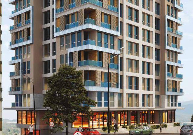 مجمع شقق ومحلات تجارية قيد الإنشاء بالتقسيط المريح  في اسطنبول الأوروبية منطقة منطقة سارير مسلك DS285     شركة داماس تورك العقارية 01