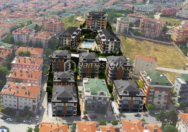 مجمع شقق استثماري  جاهز للسكن مع إطلالة بحرية  في اسطنبول الأوروبية منطقة بيوك شكمجة . DS280    داماس تورك العقارية 07